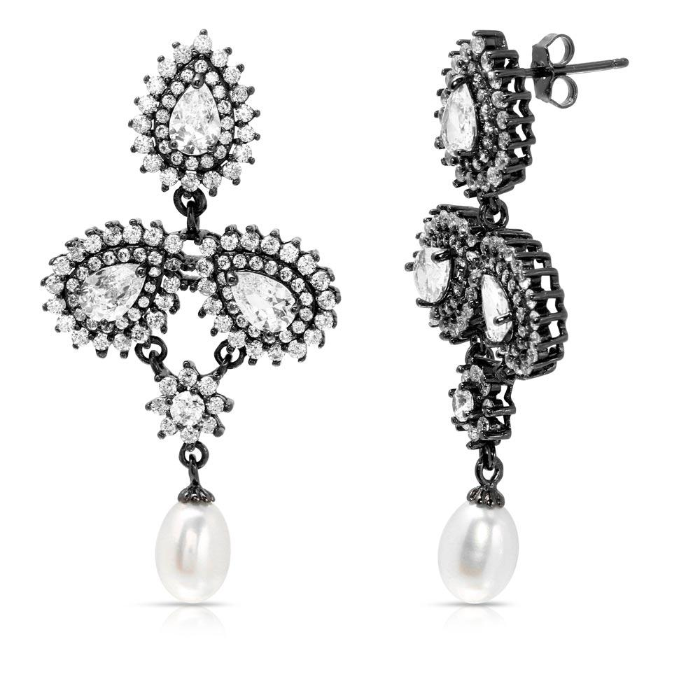pearls freshwater with winterson leverbacks drop and diamond gold white earrings pearl rose leverback