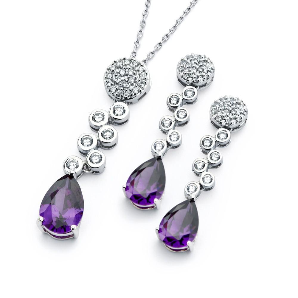 Purple Teardrop Set