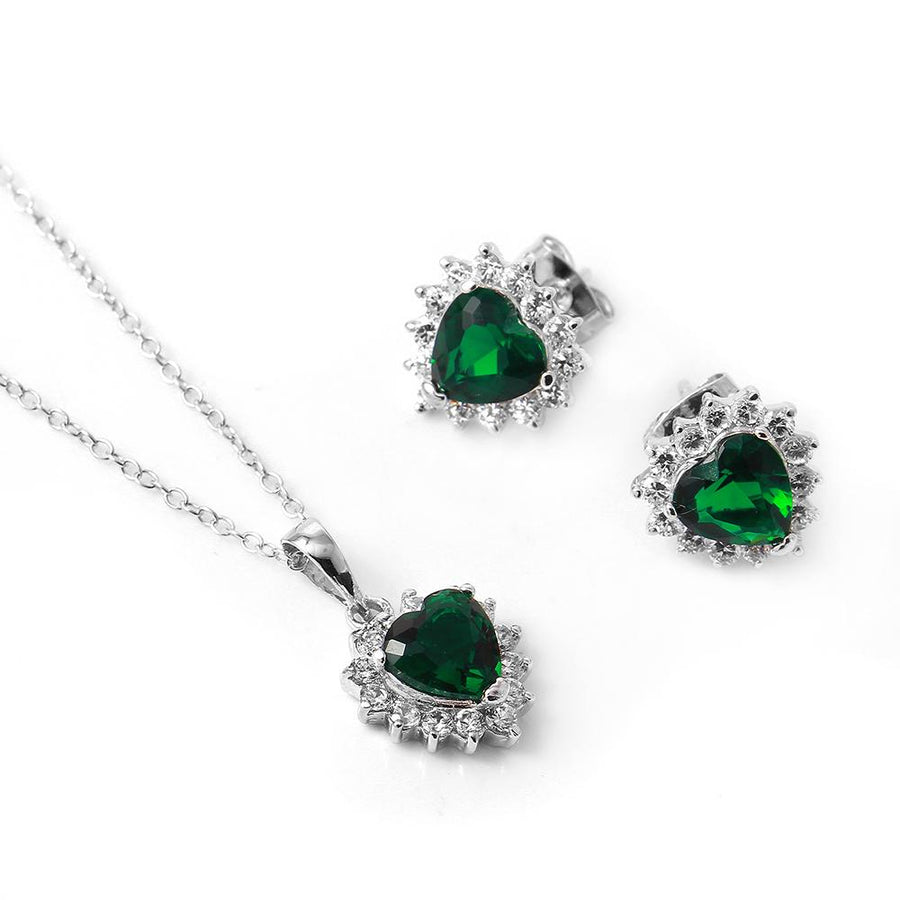 Green Heart Set - Birmingham Jewelry