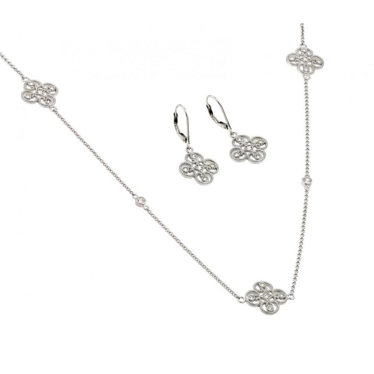 Simple Clover Cz Set
