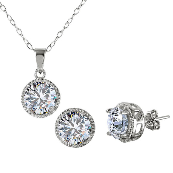 Halo Design Cz Set