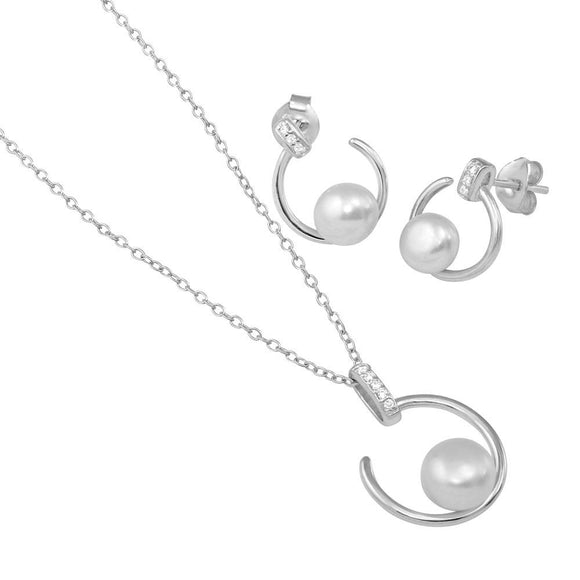 Open Cz Circle Set