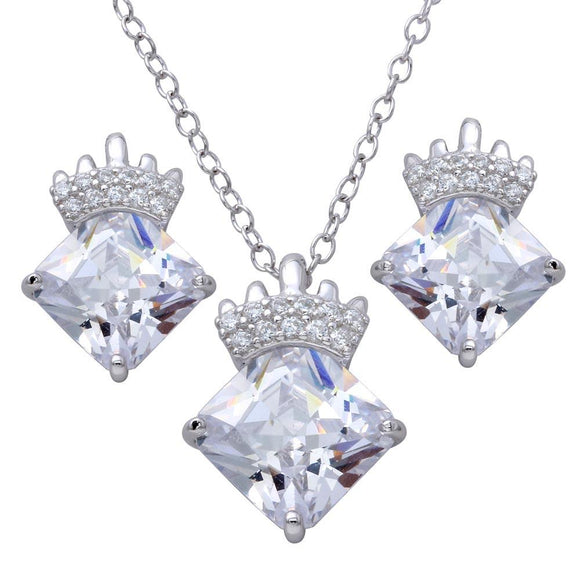 CZ Stone with Crown Set