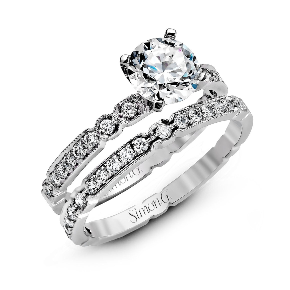 Simon G - NR130, Engagement Ring Set, Simon G - Birmingham Jewelry