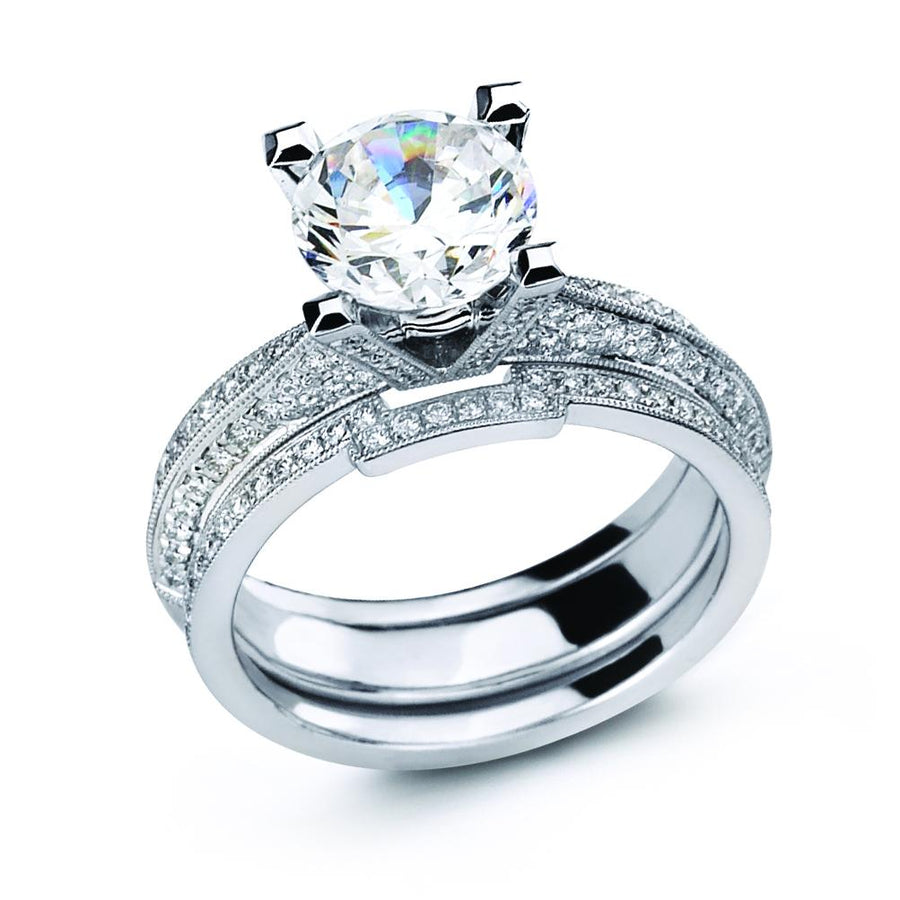 Simon G - NR333, Engagement Ring Set, Simon G - Birmingham Jewelry