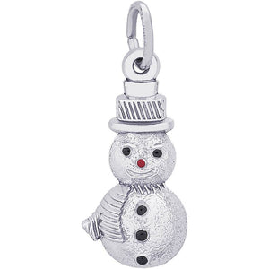 Rembrandt Charms - Snowman Charm - 6552, Charm, Rembrandt Charms - Birmingham Jewelry