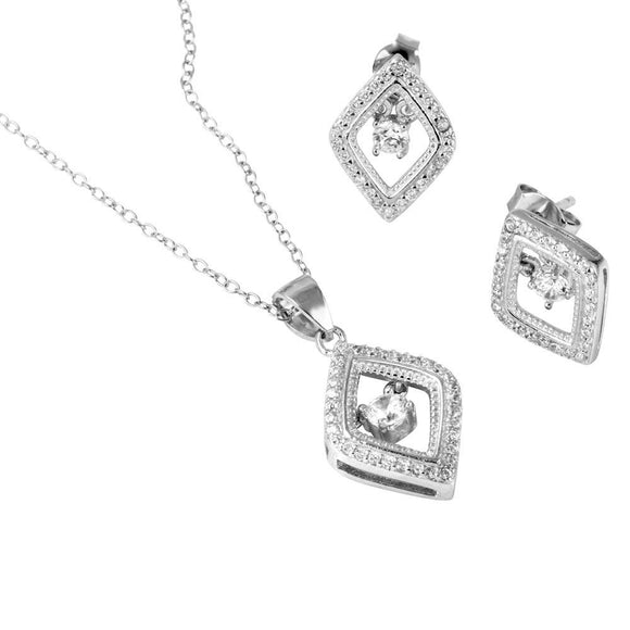 Open Diamond Shaped Set