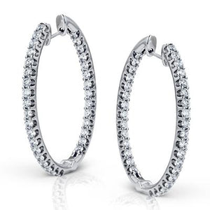 ZEGHANI ZEGHANI - ZE219 Monte Carlo Hoop Earrings - Birmingham Jewelry