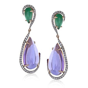 ZEGHANI - ZE528, Color Earrings, ZEGHANI - Birmingham Jewelry