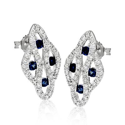 ZEGHANI - ZE588 Velvet Nights, Color Earrings, ZEGHANI - Birmingham Jewelry