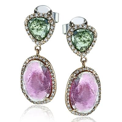ZEGHANI - ZE651, Color Earrings, ZEGHANI - Birmingham Jewelry