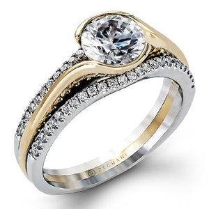 ZEGHANI ZEGHANI - ZR1048 Golden Eye Engagement Ring - Birmingham Jewelry