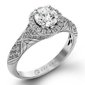 ZEGHANI ZEGHANI - ZR1053 Engagement Ring - Birmingham Jewelry