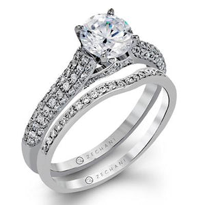 ZEGHANI - ZR1223 St. Barths (Set), Engagement Ring Set, ZEGHANI - Birmingham Jewelry