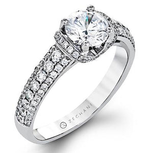 ZEGHANI ZEGHANI - ZR1229 Engagement Ring - Birmingham Jewelry
