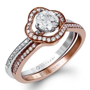 ZEGHANI ZEGHANI - ZR1233 Surround Me (SET) Engagement Ring Set - Birmingham Jewelry
