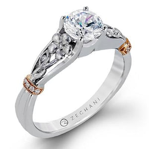 ZEGHANI ZEGHANI - ZR1237 Wild Flower Engagement Ring - Birmingham Jewelry