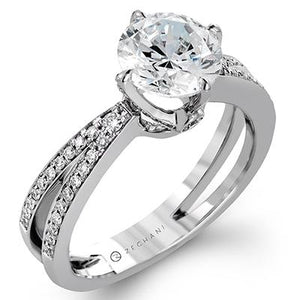ZEGHANI ZEGHANI - ZR1244 Dragon's Claw Engagement Ring - Birmingham Jewelry