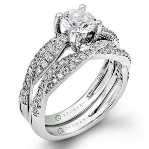 ZEGHANI ZEGHANI - ZR717 Myrtle (Set) Engagement Ring Set - Birmingham Jewelry