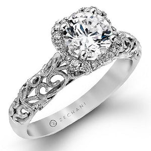 ZEGHANI ZEGHANI - ZR914 Winter Ivy Engagement Ring - Birmingham Jewelry