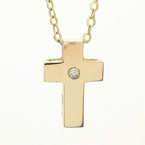 Birmingham Jewelry - 14K Gold Cross With Diamond - Birmingham Jewelry