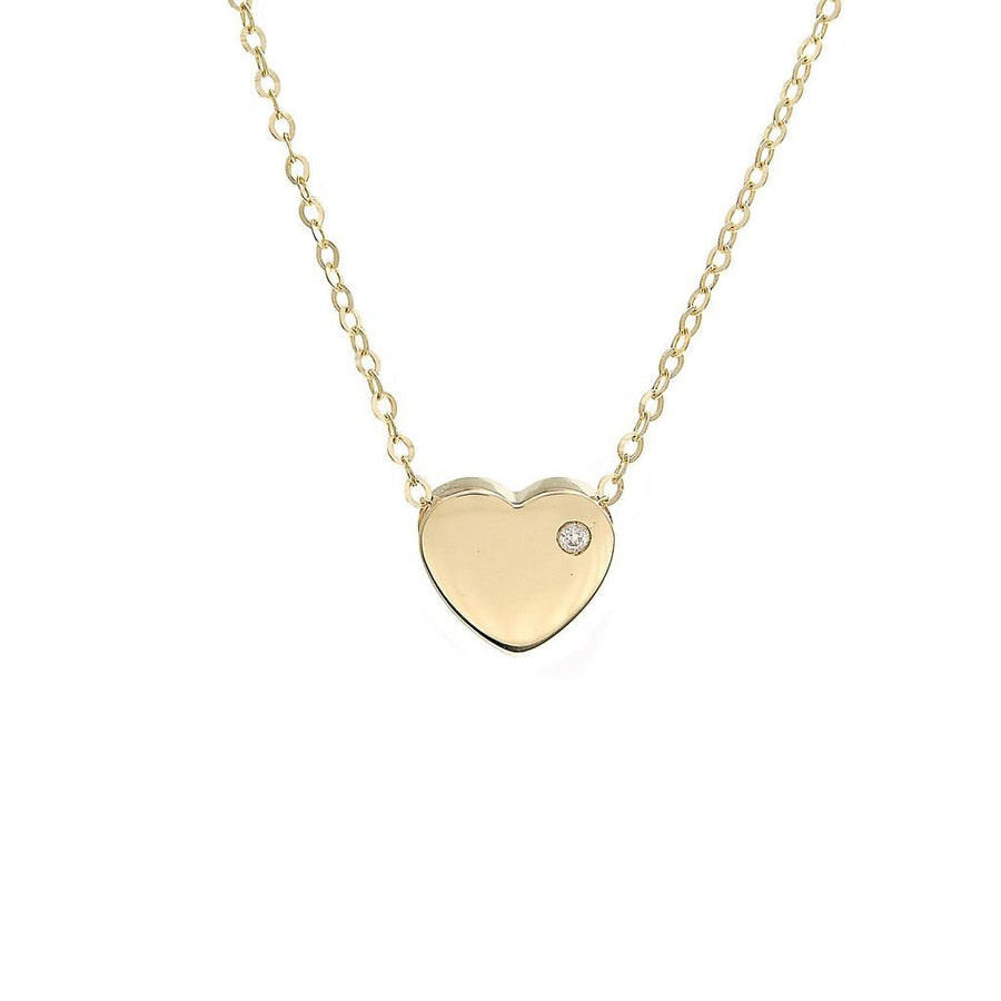 Birmingham Jewelry - 14K Gold Heart With Diamond - Birmingham Jewelry