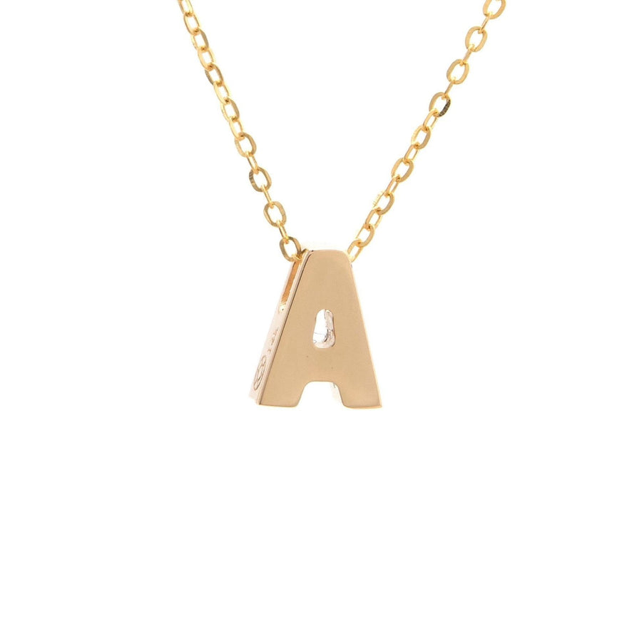 "Birmingham Jewelry - 14K Gold Initial ""A"" Necklace - Birmingham Jewelry"