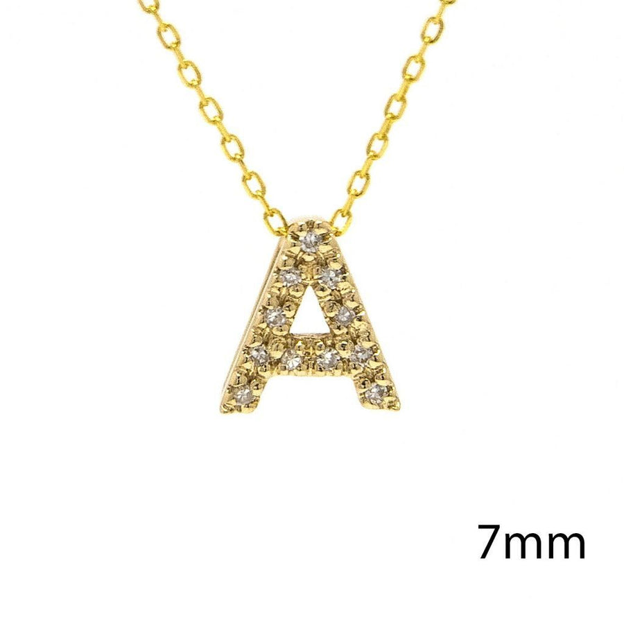 "Birmingham Jewelry - 14K Gold Initial ""A"" Necklace With Diamonds - Birmingham Jewelry"