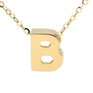 "Birmingham Jewelry - 14K Gold Initial ""B"" Necklace - Birmingham Jewelry"