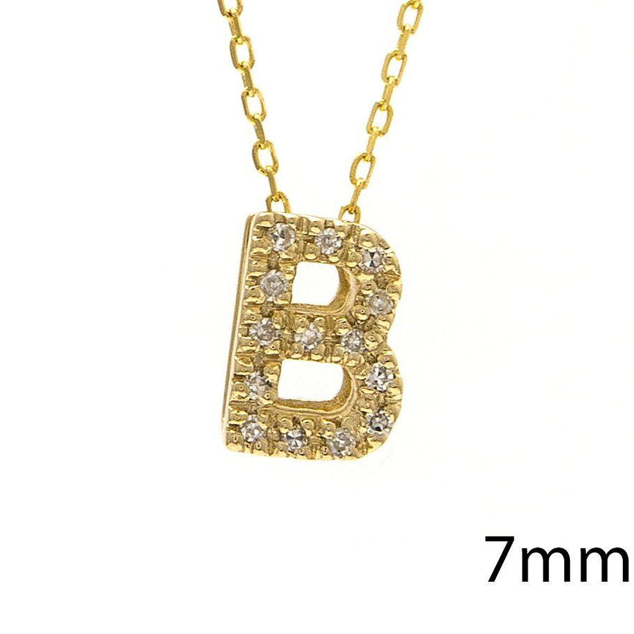"Birmingham Jewelry - 14K Gold Initial ""B"" Necklace With Diamonds - Birmingham Jewelry"