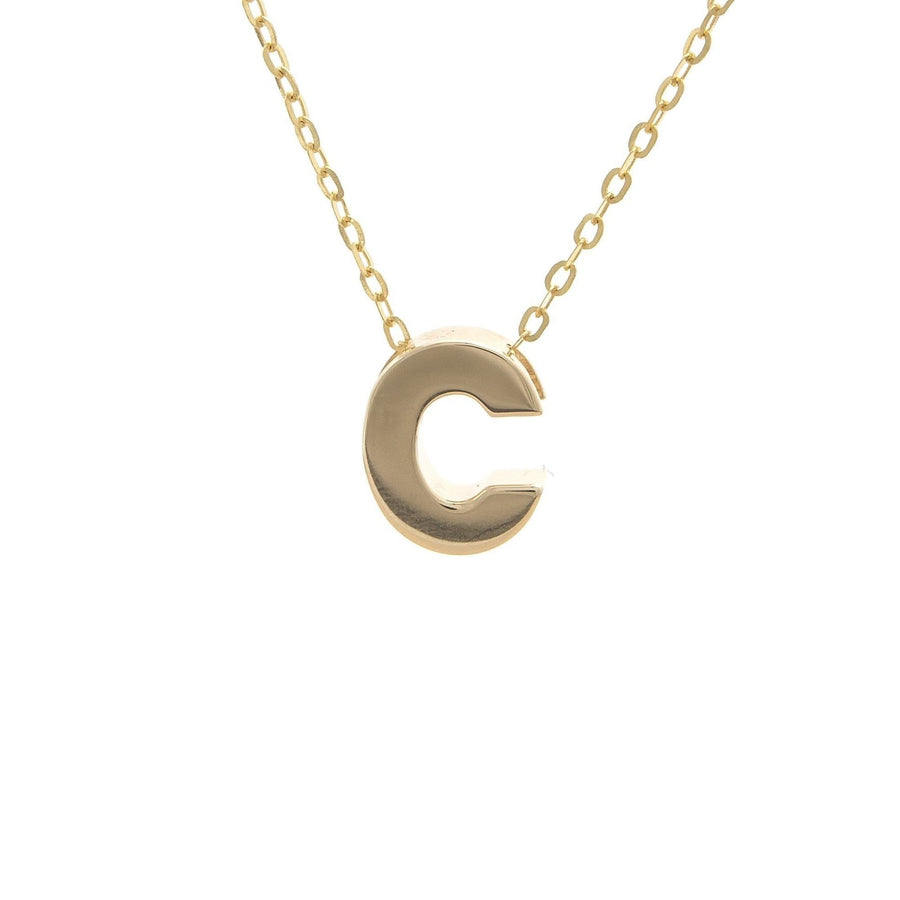 "14K Gold Initial ""C"" Necklace"