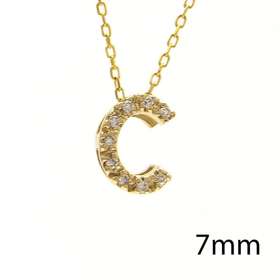 "Birmingham Jewelry - 14K Gold Initial ""C"" Necklace With Diamonds - Birmingham Jewelry"