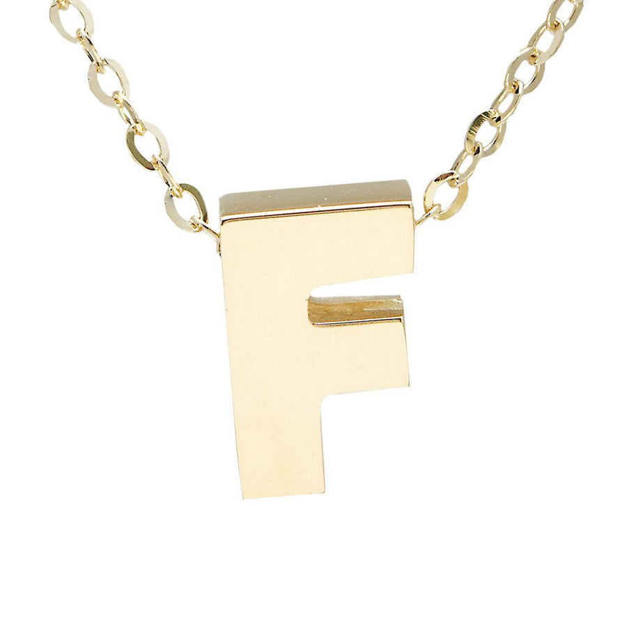 "Birmingham Jewelry - 14K Gold Initial ""F"" Necklace - Birmingham Jewelry"