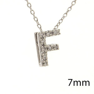 "Birmingham Jewelry - 14K Gold Initial ""F"" Necklace With Diamonds - Birmingham Jewelry"