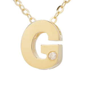 "Birmingham Jewelry - 14K Gold Initial ""G"" Necklace (Diamond) - Birmingham Jewelry"