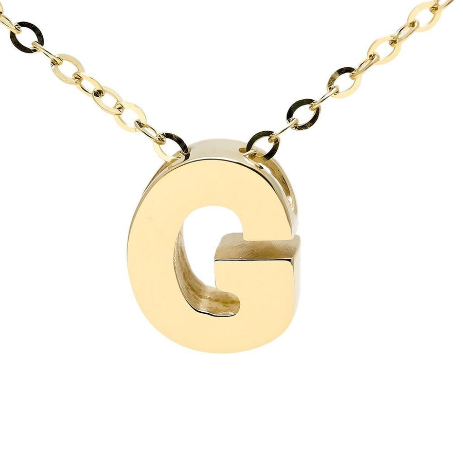 "Birmingham Jewelry - 14K Gold Initial ""G"" Necklace - Birmingham Jewelry"