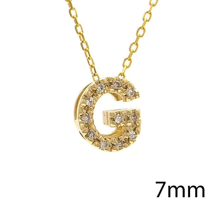 "Birmingham Jewelry - 14K Gold Initial ""G"" Necklace With Diamonds - Birmingham Jewelry"