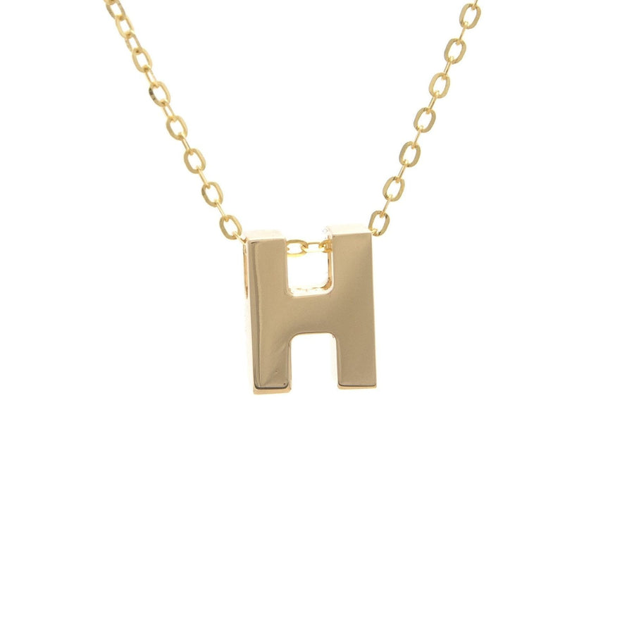 "Birmingham Jewelry - 14K Gold Initial ""H"" Necklace - Birmingham Jewelry"