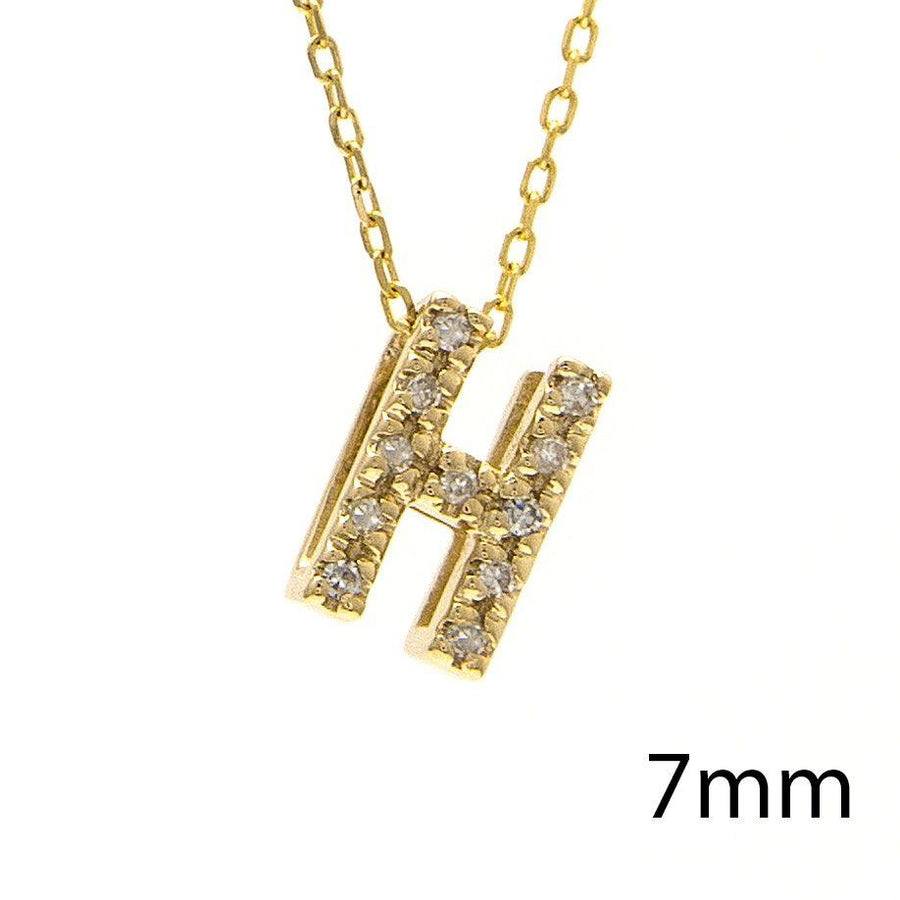 "Birmingham Jewelry - 14K Gold Initial ""H"" Necklace With Diamonds - Birmingham Jewelry"