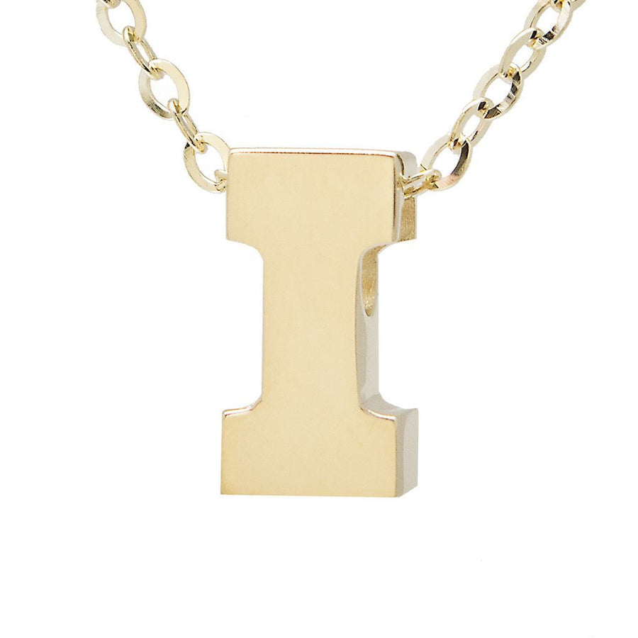 "Birmingham Jewelry - 14K Gold Initial ""I"" Necklace - Birmingham Jewelry"