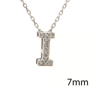 "Birmingham Jewelry - 14K Gold Initial ""I"" Necklace With Diamonds - Birmingham Jewelry"