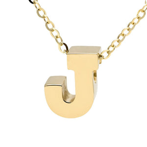 "Birmingham Jewelry - 14K Gold Initial ""J"" Necklace - Birmingham Jewelry"