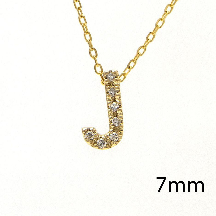 "Birmingham Jewelry - 14K Gold Initial ""J"" Necklace With Diamonds - Birmingham Jewelry"