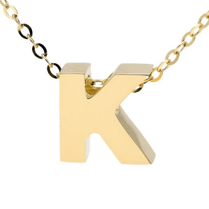 "Birmingham Jewelry - 14K Gold Initial ""K"" Necklace - Birmingham Jewelry"