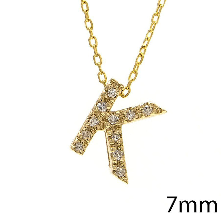 "Birmingham Jewelry - 14K Gold Initial ""K"" Necklace With Diamonds - Birmingham Jewelry"