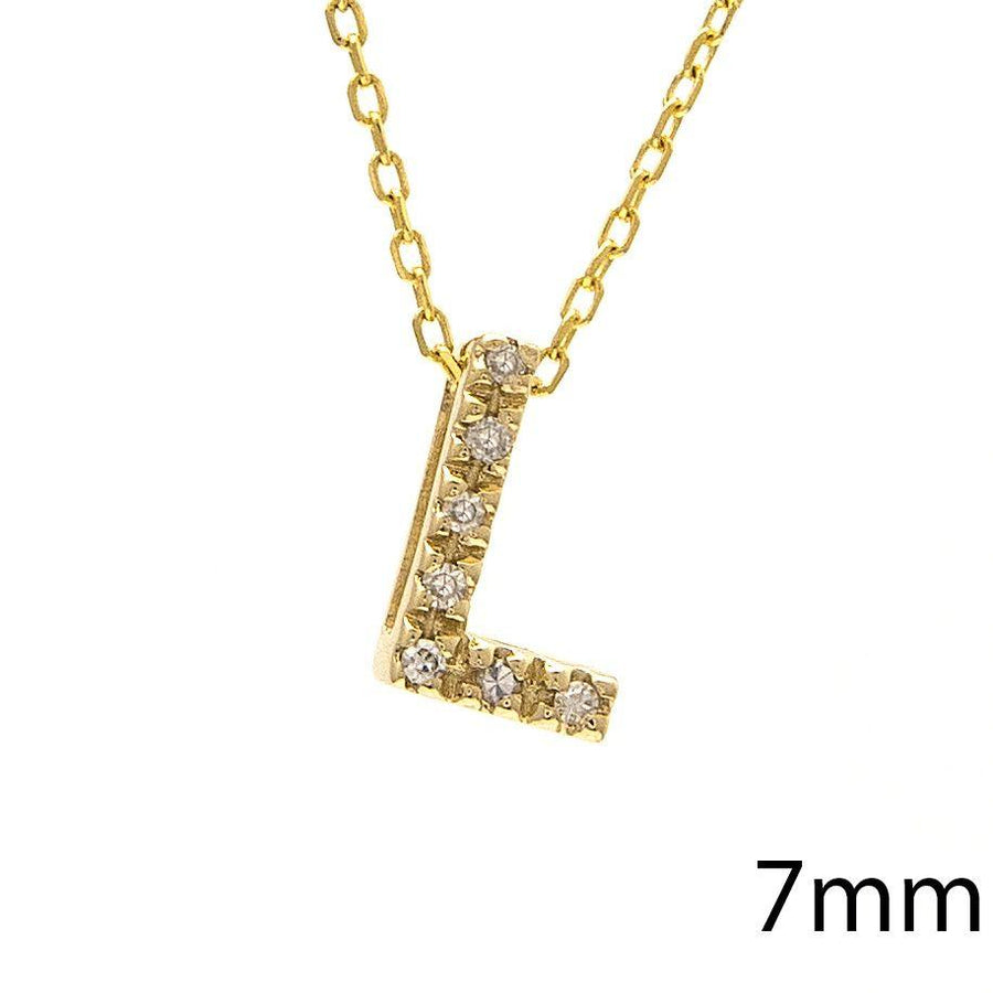 "Birmingham Jewelry - 14K Gold Initial ""L"" Necklace With Diamonds - Birmingham Jewelry"