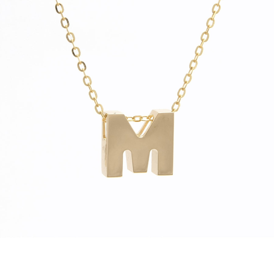 "Birmingham Jewelry - 14K Gold Initial ""M"" Necklace - Birmingham Jewelry"