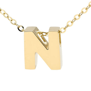 "Birmingham Jewelry - 14K Gold Initial ""N"" Necklace - Birmingham Jewelry"