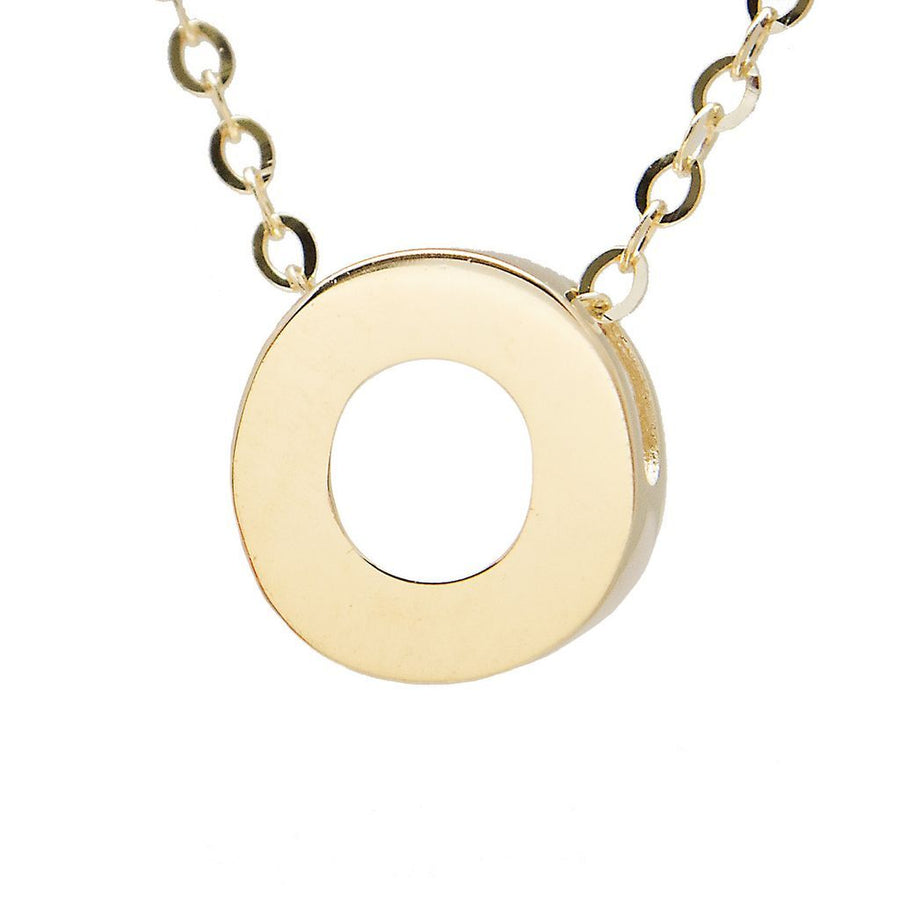 "Birmingham Jewelry - 14K Gold Initial ""O"" Necklace - Birmingham Jewelry"