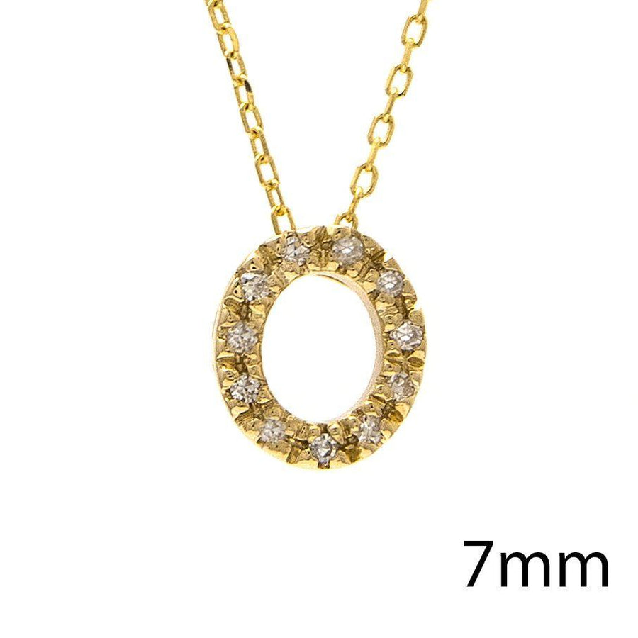 "Birmingham Jewelry - 14K Gold Initial ""O"" Necklace With Diamonds - Birmingham Jewelry"